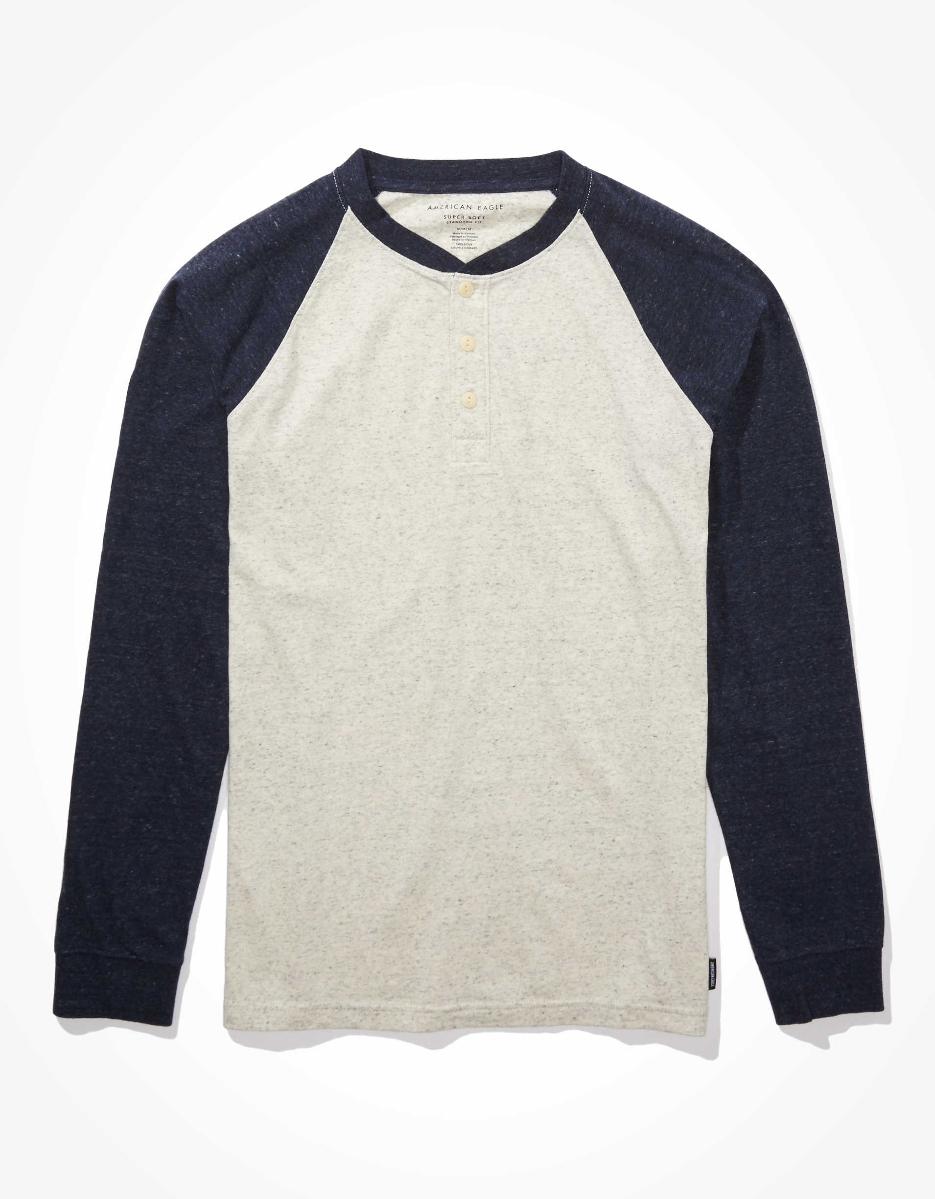 AE Long-Sleeve Super Soft Brushed Henley