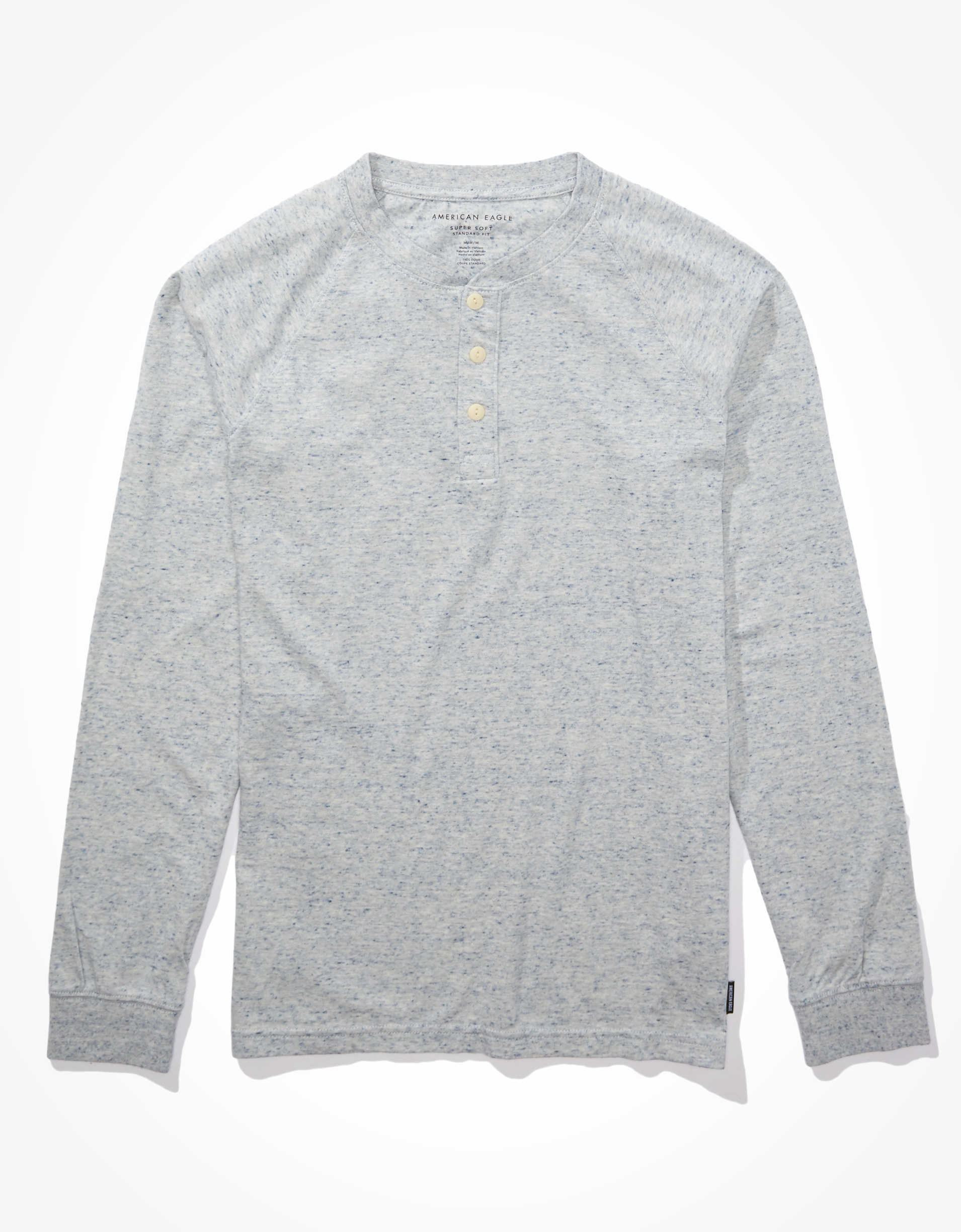 AE Long Sleeve Super Soft Brushed Henley