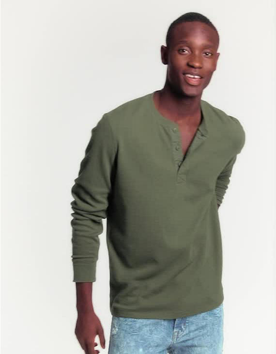 39dc843dea0 AE Beyond-Soft Henley Thermal