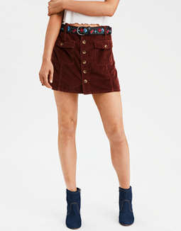 AE High-Waisted Festival Corduroy Skirt