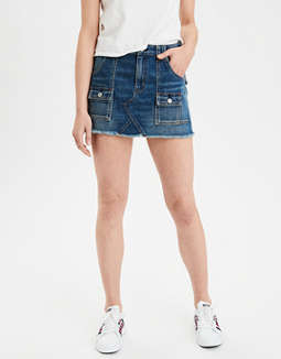 High-Waisted Festival Denim Skirt