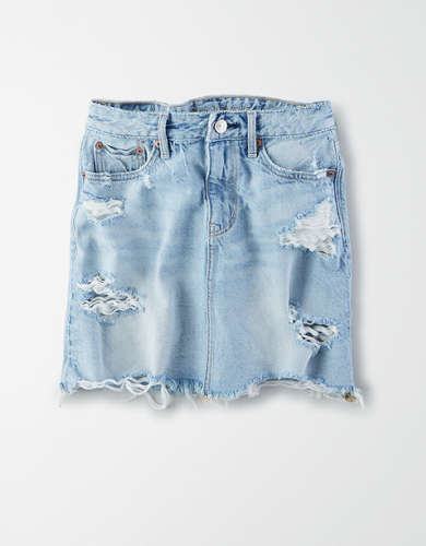AE Super High-Waisted Festival Denim Mini Skirt