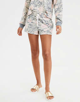AE High-Waisted Floral Fleece Short