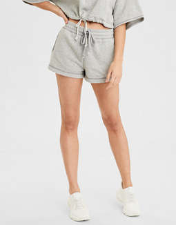 High-Waisted Fleece Short