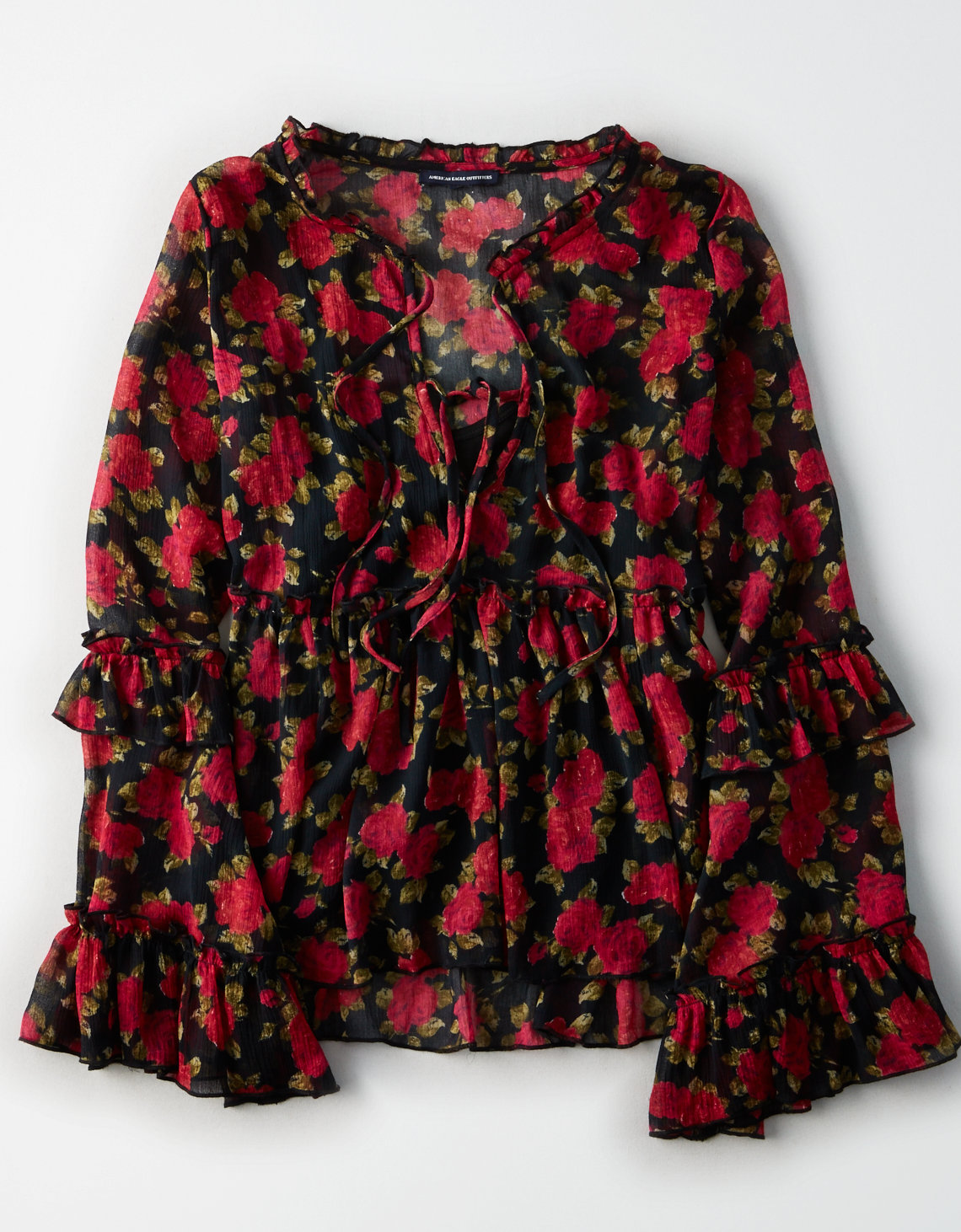 ruffle top american eagle outfitters