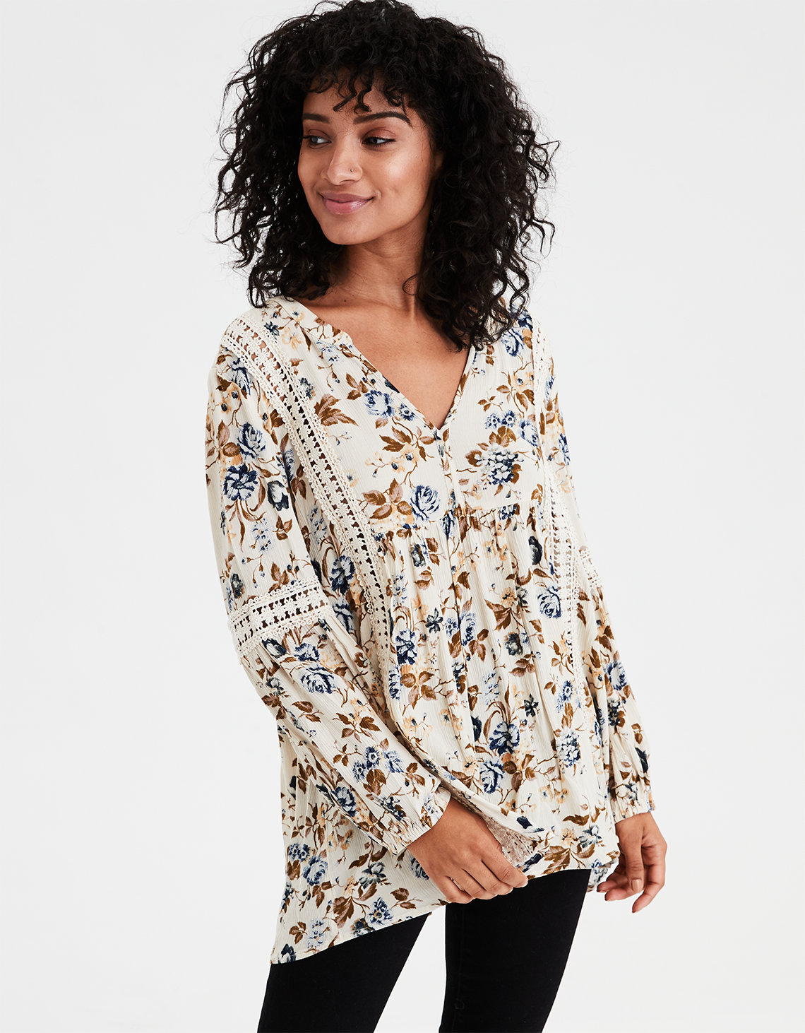 AE Floral Lace Blouse
