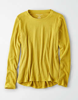 AE Plush Ribbed Long Sleeve T-Shirt