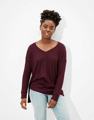 AE Soft & Sexy Plush V-Neck T-Shirt