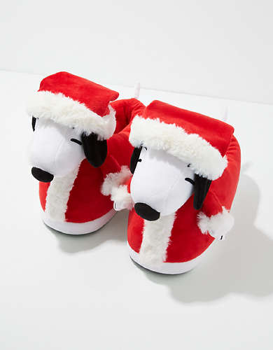AEO Holiday Snoopy Slipper