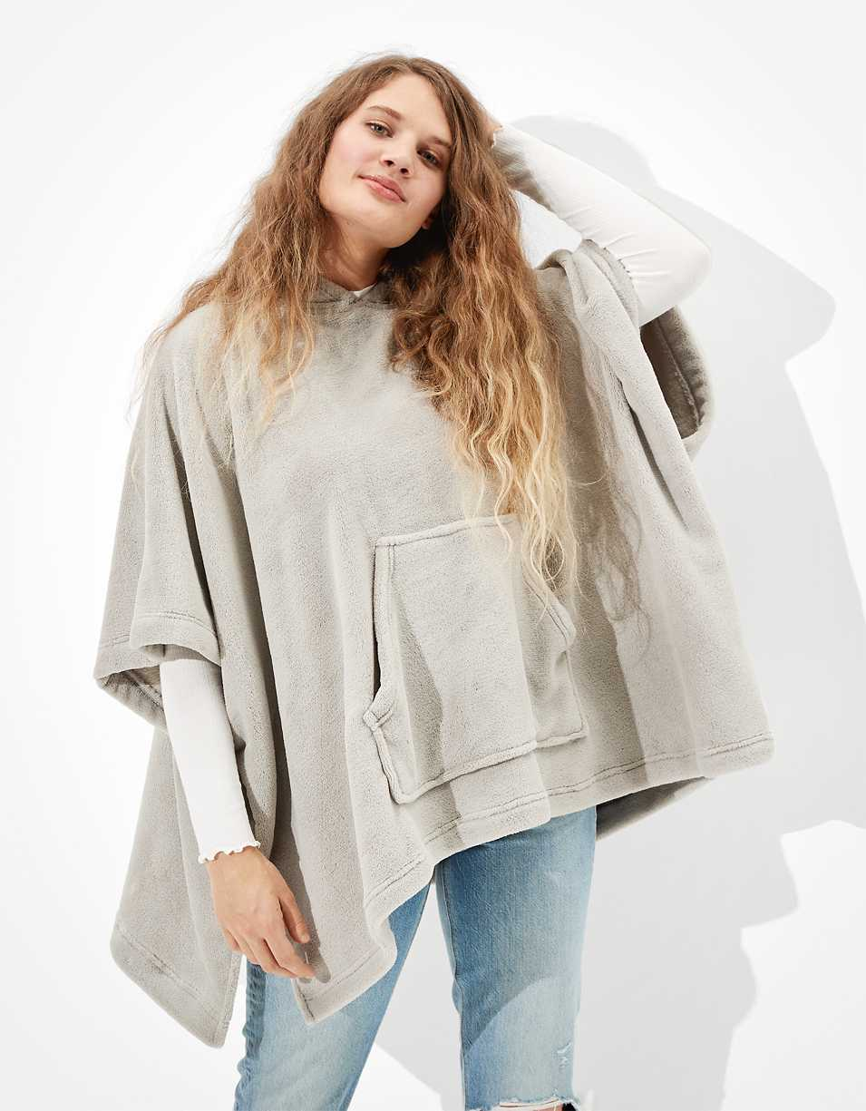 AE Plush Hooded Poncho