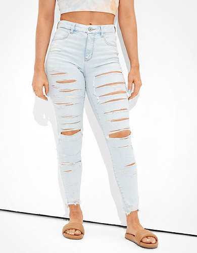 AE Ne(x)t Level Ripped Curvy High-Waisted Jegging Crop