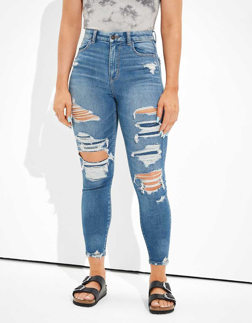 AE Ne(x)t Level Patched Curvy Super High-Waisted Jegging Crop