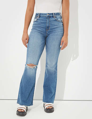 AE Curvy Super High-Waisted Flare Jean