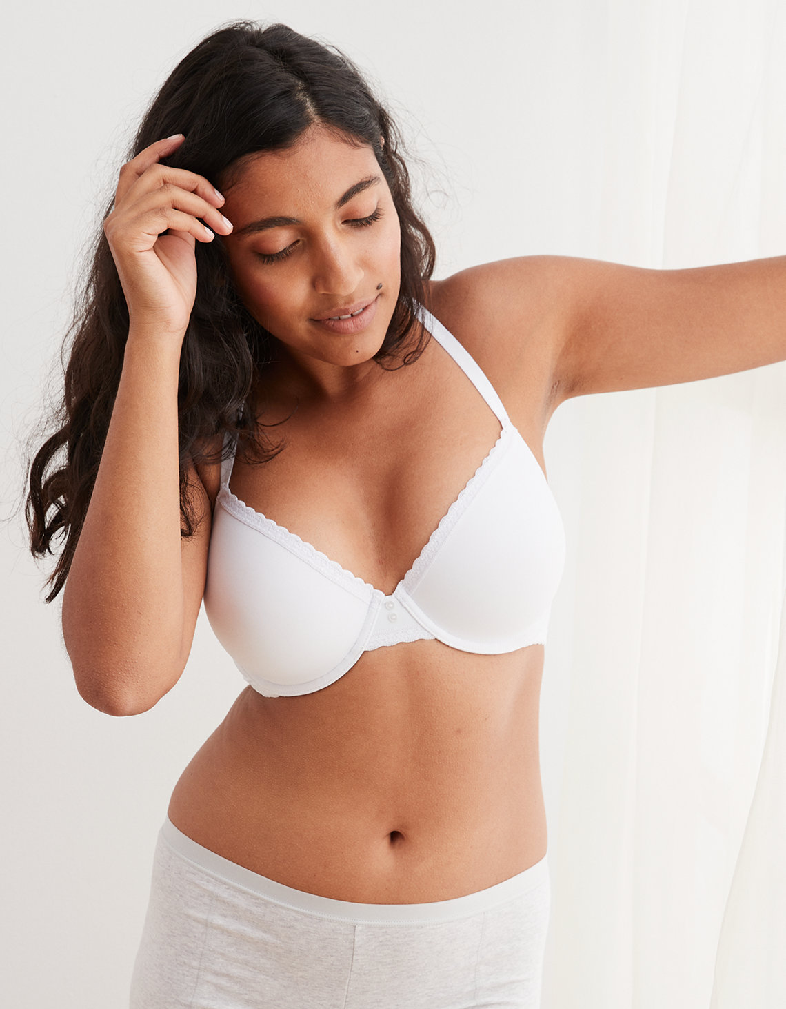 3134389a195fc Aerie Real Happy Full Coverage Lightly Lined Bra. Placeholder image.  Product Image
