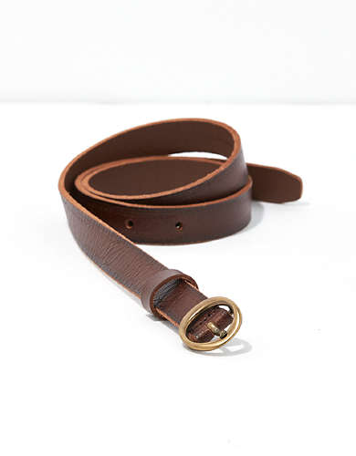 Frye & Co. Embossed Round Buckle Belt