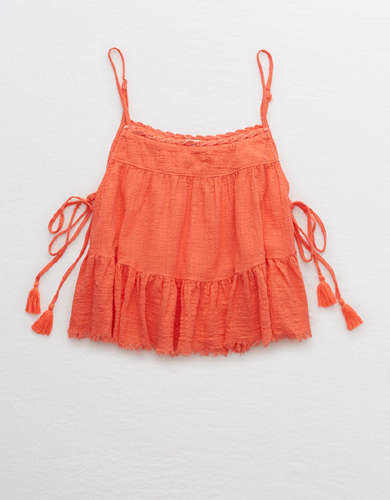 Aerie Tiered Woven Tank