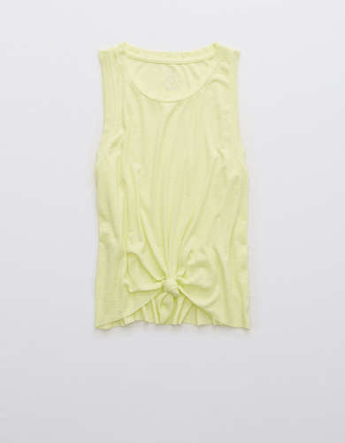 Aerie Ribbed Knotted Tank