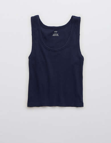 Aerie Distressed Baby Tank Top