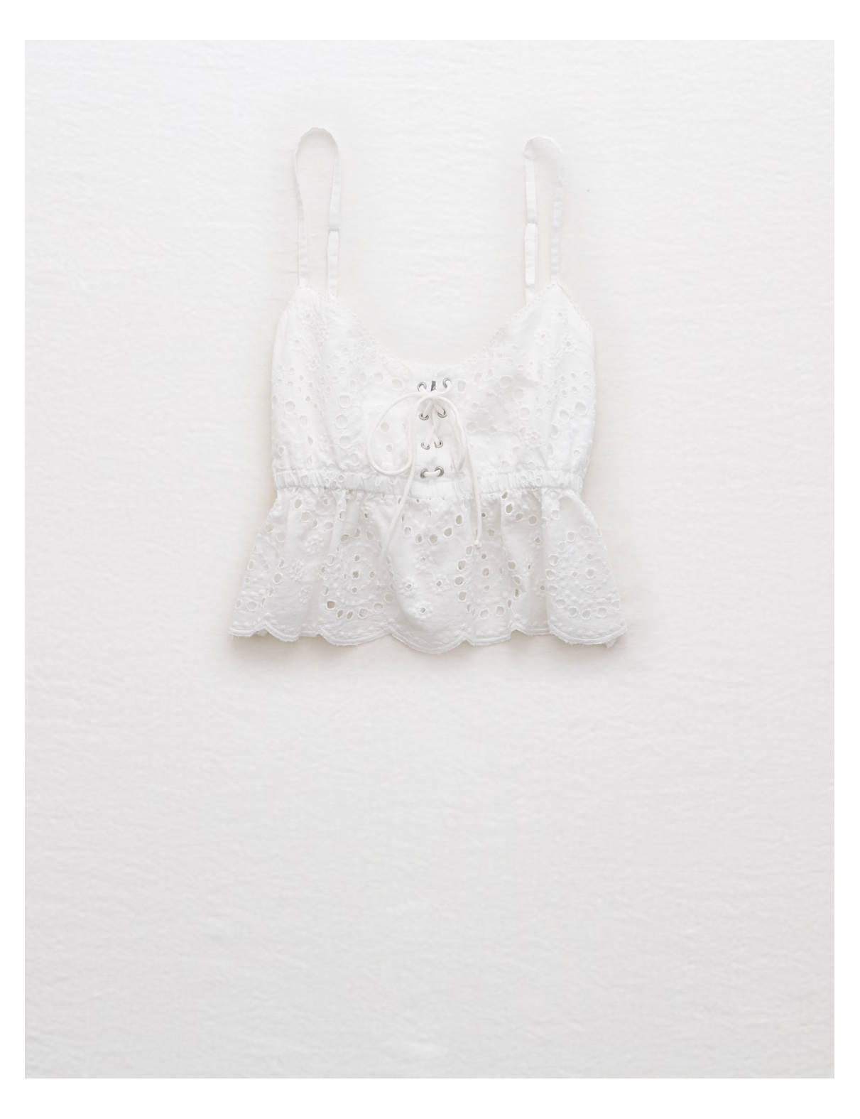 Display product reviews for Aerie Eyelet Crop Tank