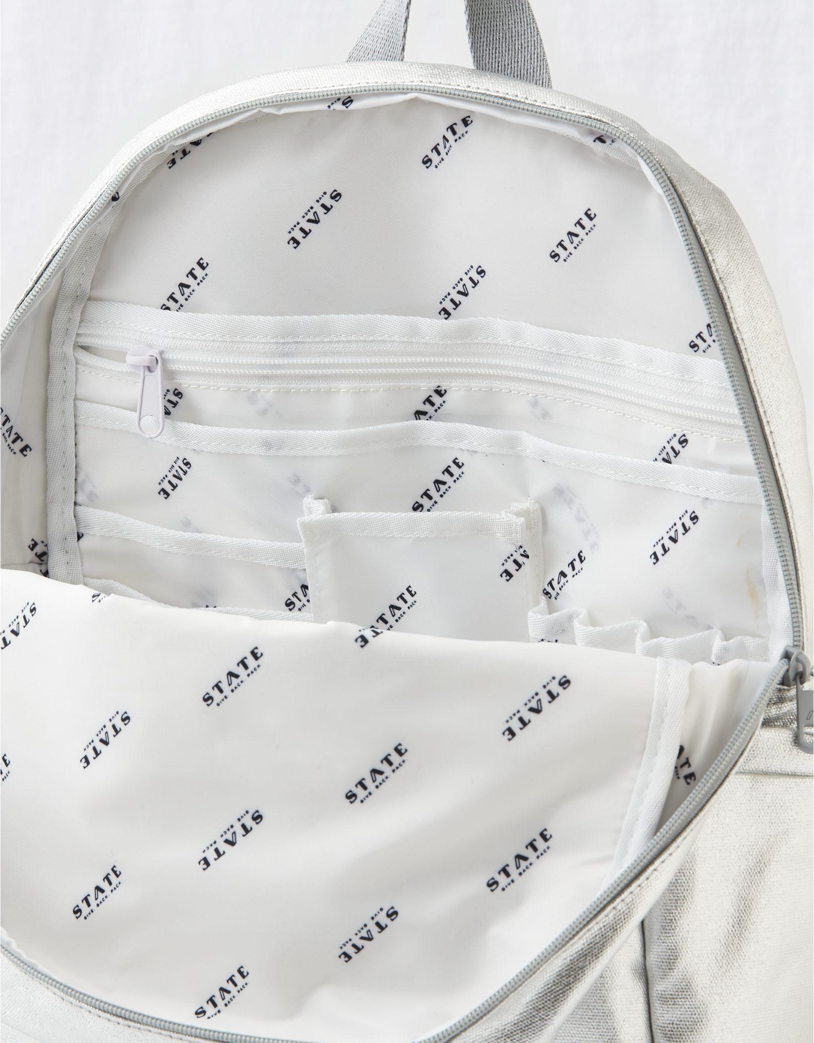 State Kane Metallic Backpack