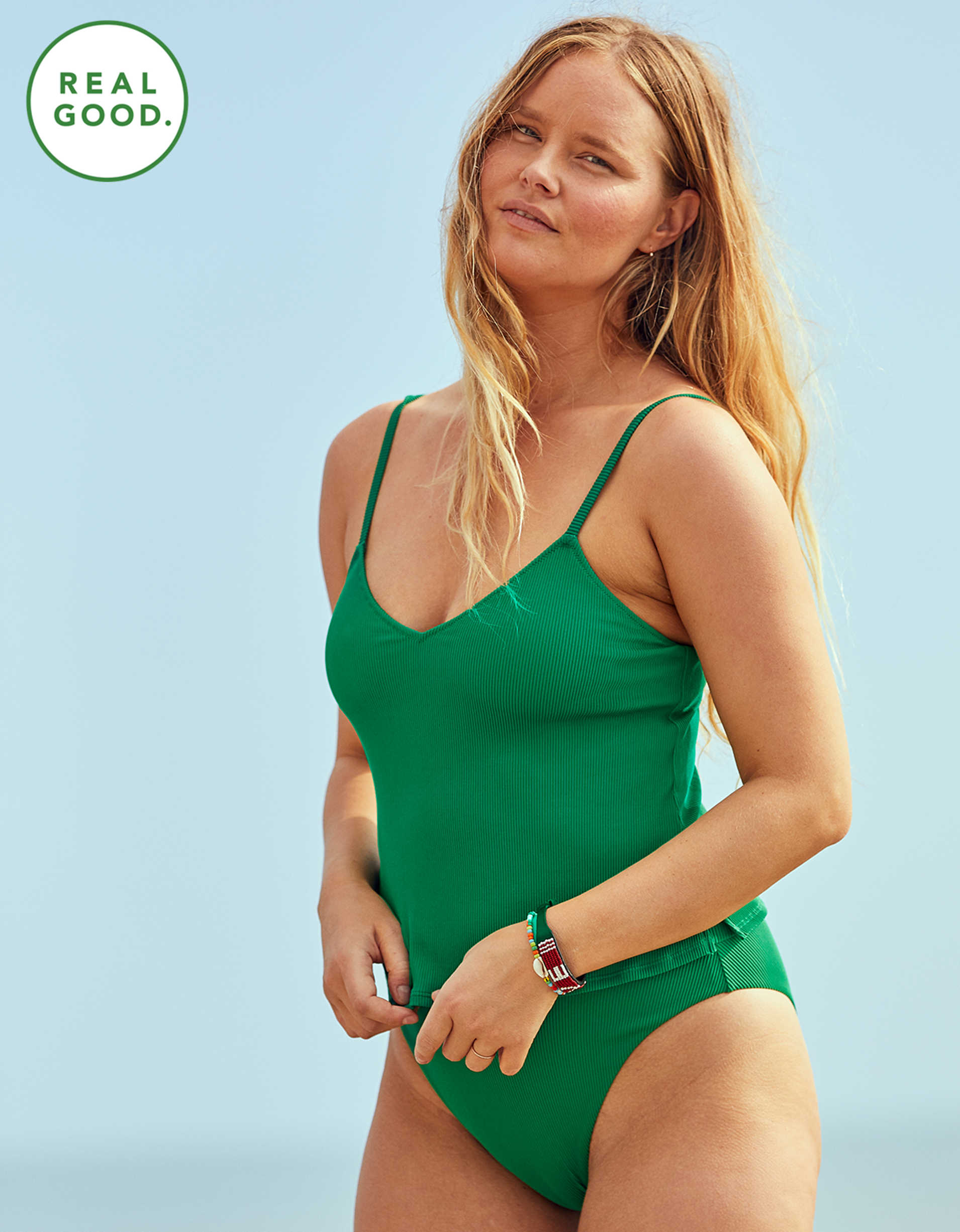 Aerie Ribbed Tankini Top