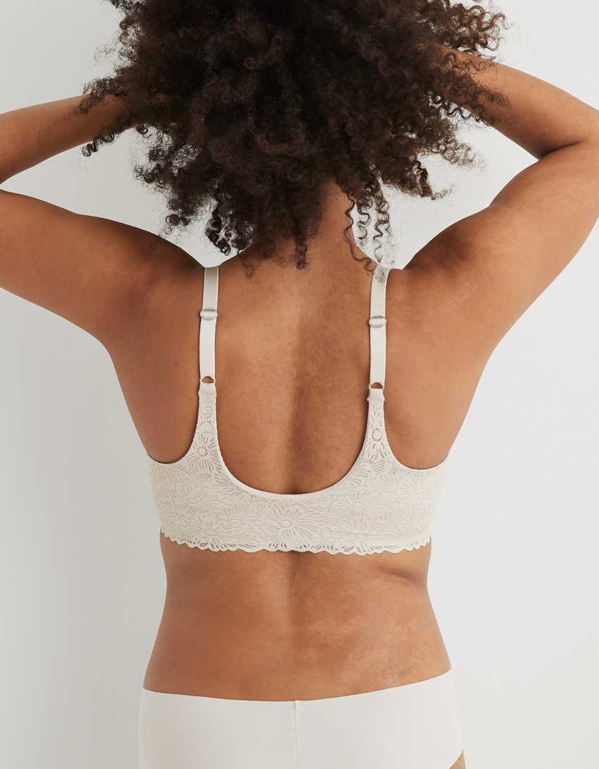Aerie Real Sunnie Wireless Lightly Lined Blossom Lace Bra