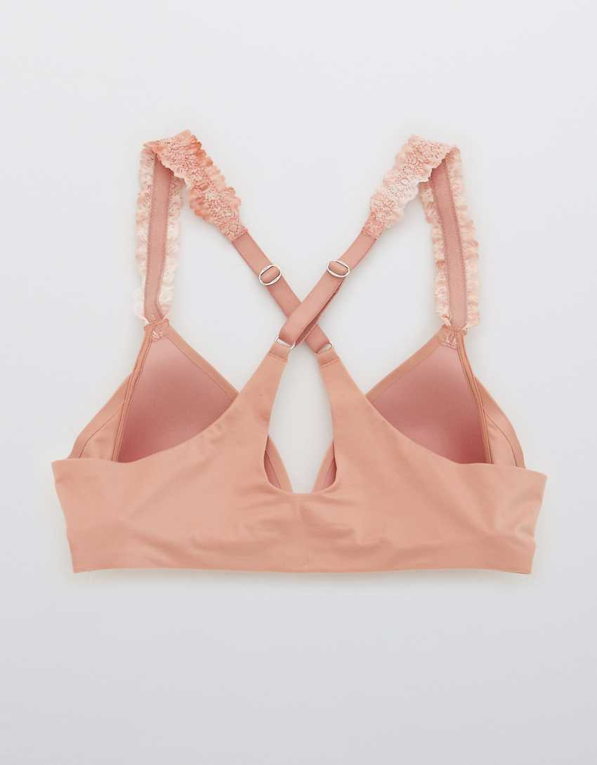 Aerie Real Sunnie Wireless Lightly Lined Blossom Lace Strap Bra