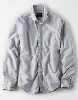 cfc89b0b Shoptagr   Ae Long Sleeve Oxford Button Down Shirt by American Eagle ...