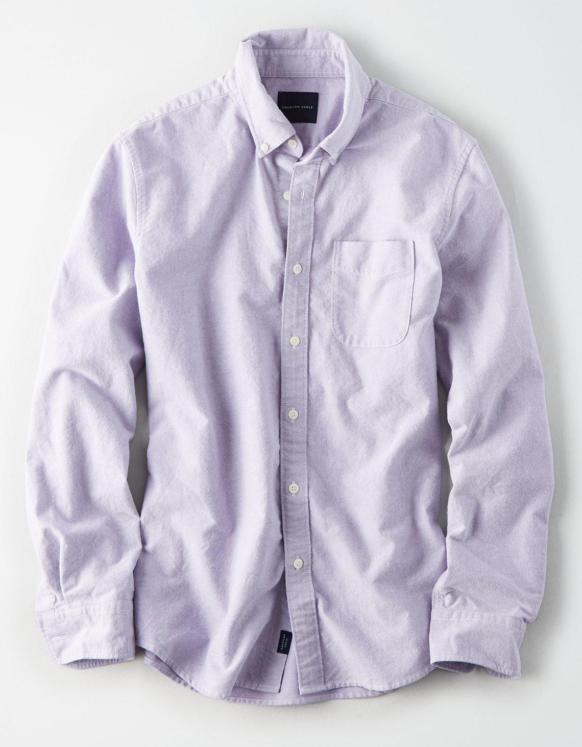 e002c9635739 AE Long Sleeve Oxford Button Down Shirt