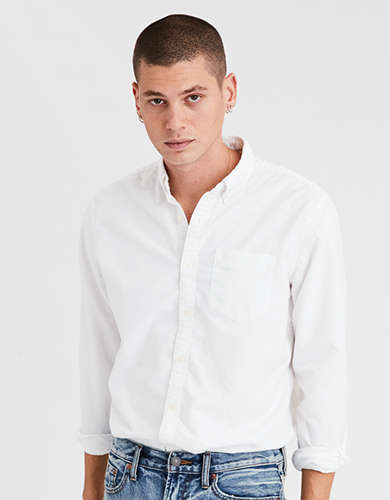 AE Long Sleeve Oxford Button Up Shirt