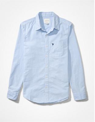 Приталенная рубашка на пуговицах из ткани оксфорд AE