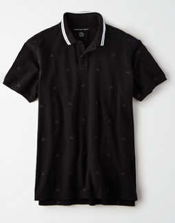 AE All Over Logo Polo Shirt