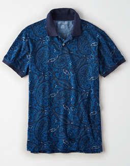 AE Paisley Polo Shirt