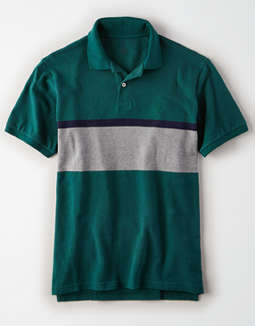 AE Colorblock Polo Shirt