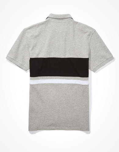 AE Color-Block Polo Shirt