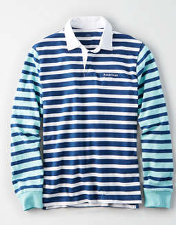 AE Long Sleeve Striped Rugby Shirt
