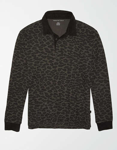 AE Long Sleeve Leopard Rugby Shirt