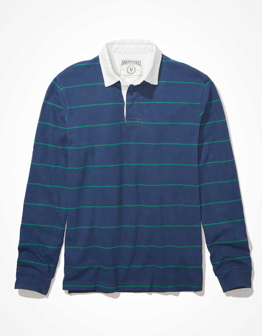 AE Super Soft Long-Sleeve Rugby Polo T-Shirt