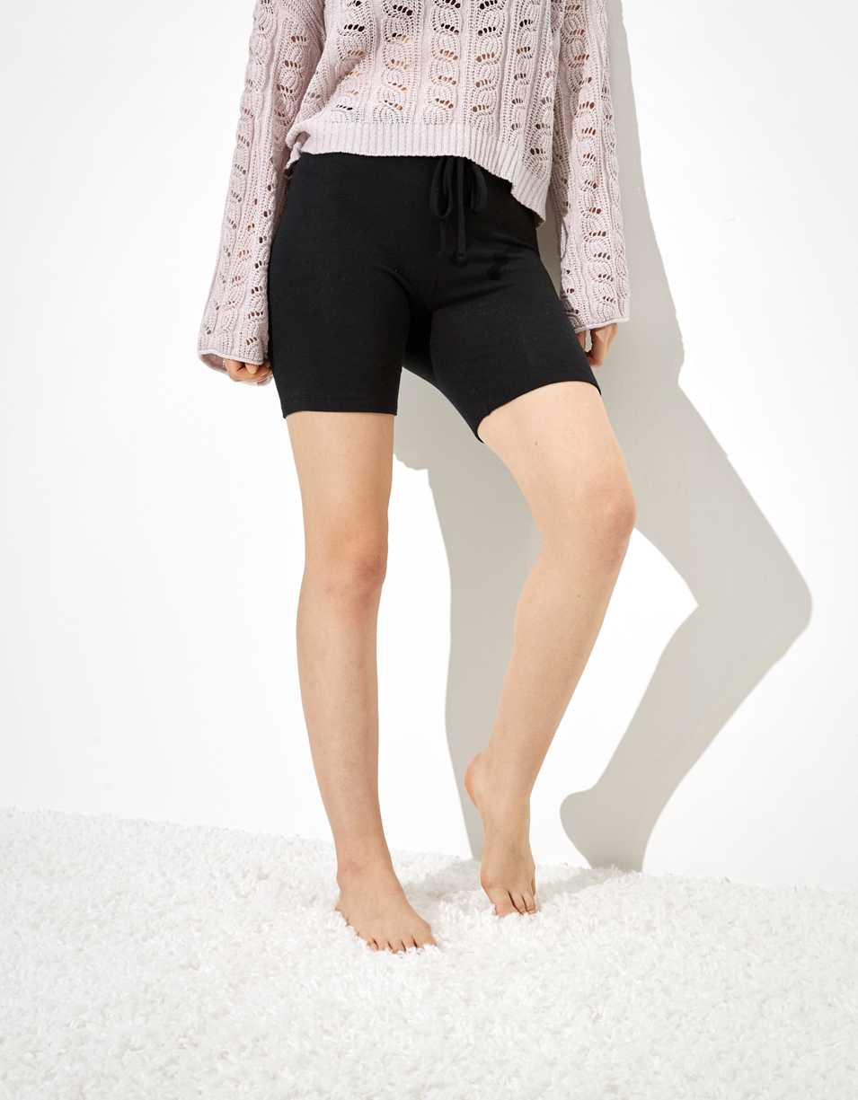 "AE Plush Super High-Waisted 7"" Bike Short"