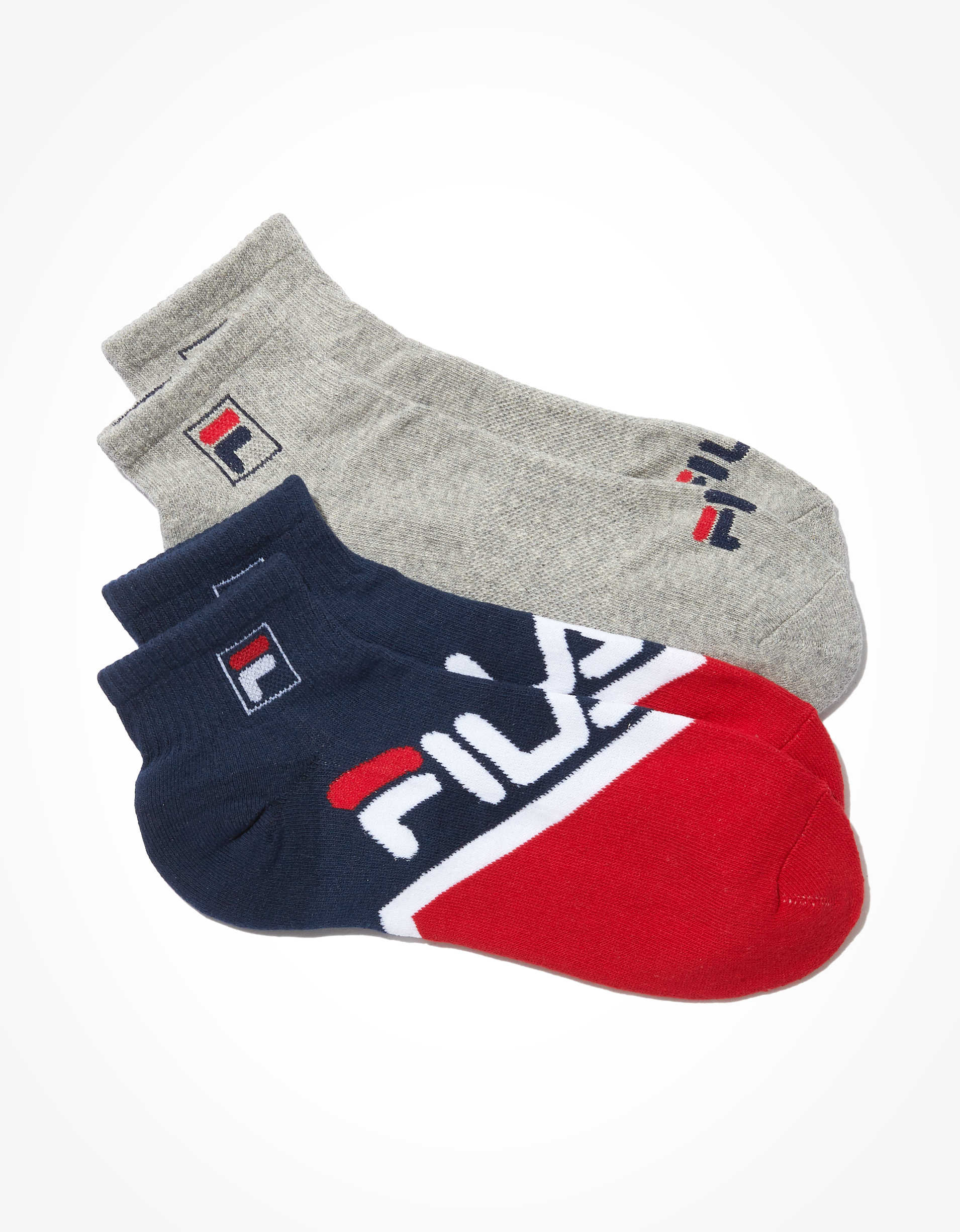 FILA Redux Quarter Socks 2-Pack