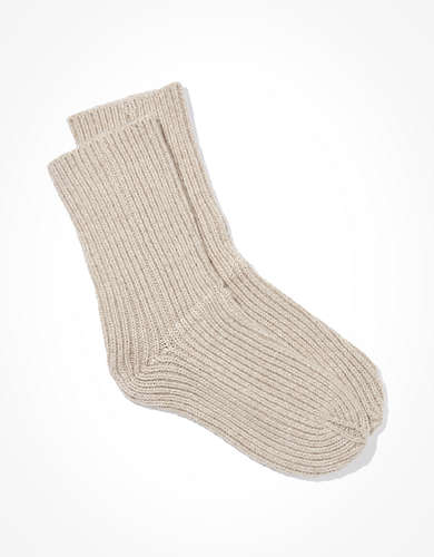 Lemon Girlfriend Ribbed Crew Sock