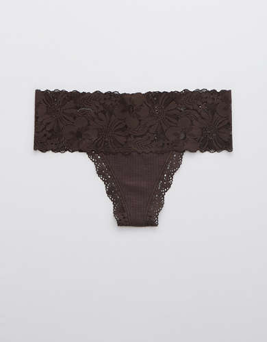 Aerie Garden Party Thong Underwear