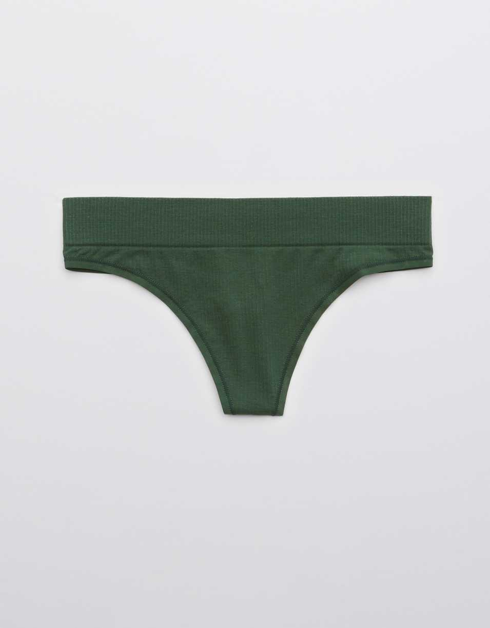 Aerie Ribbed Seamless Thong Underwear