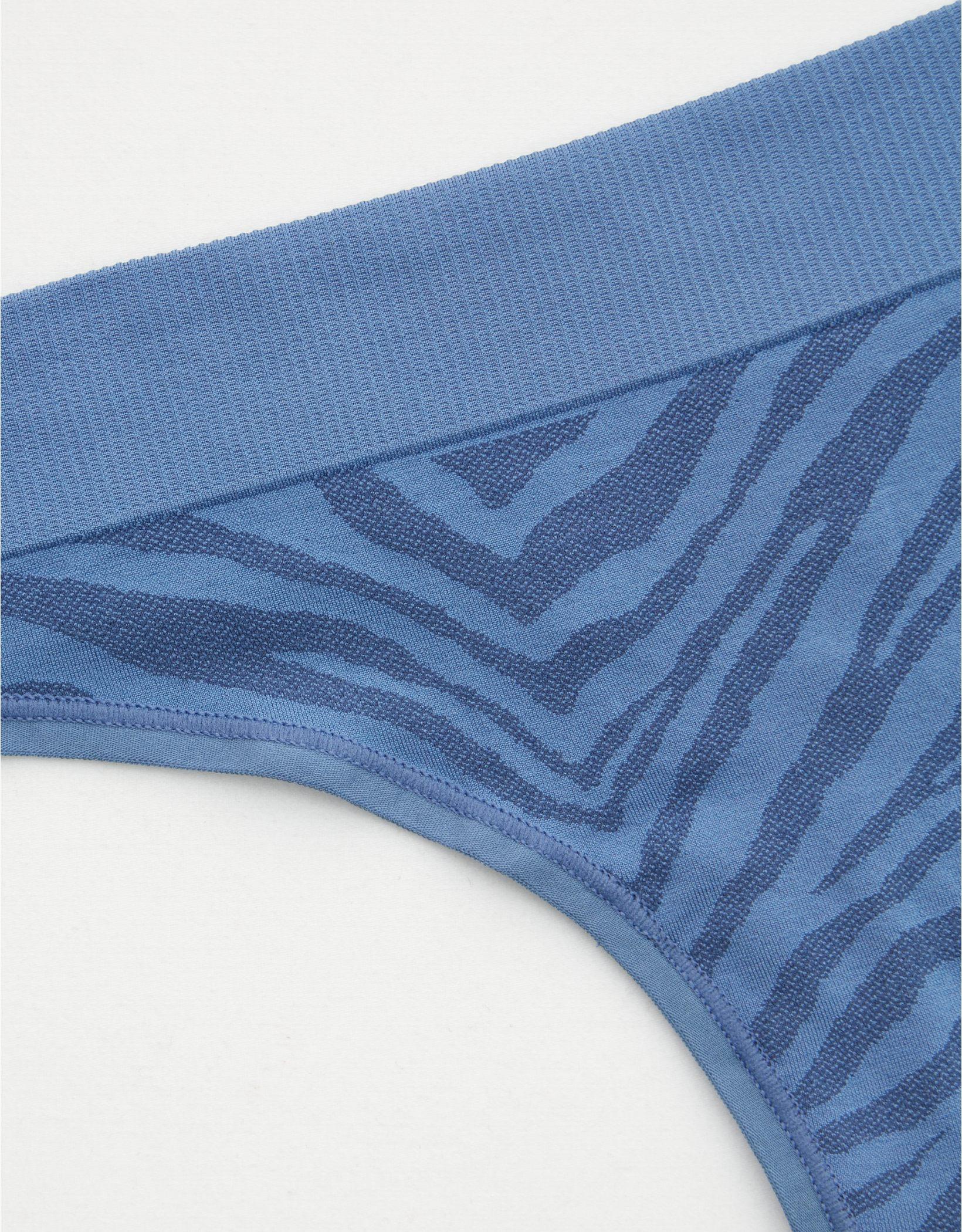 Aerie Seamless Zebra Print Thong Underwear