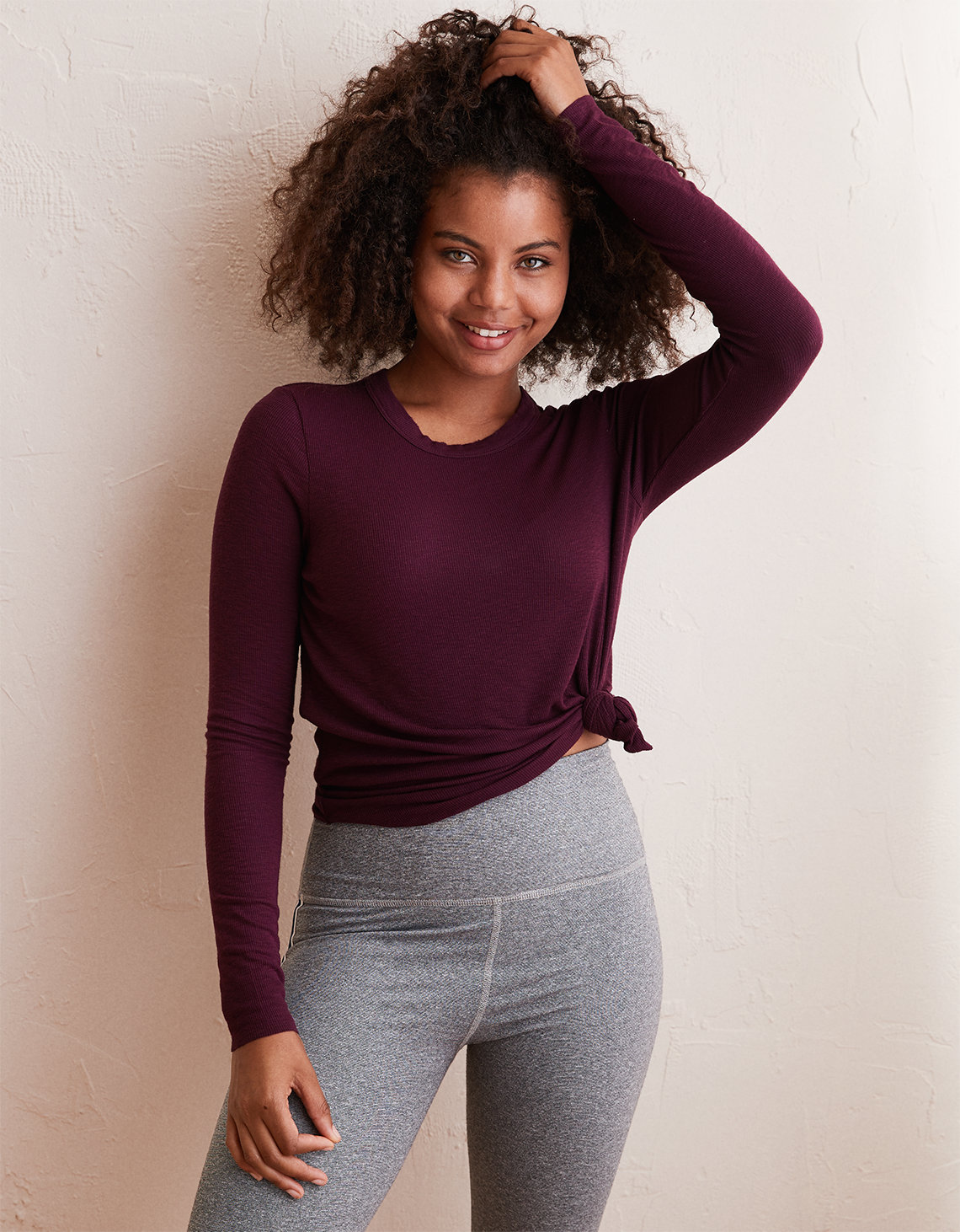 Aerie Real Soft® Ribbed Long Sleeve T-Shirt