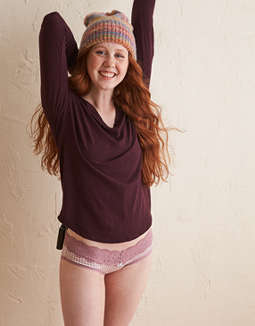 Aerie Real Soft® V-Neck Long Sleeve Tee