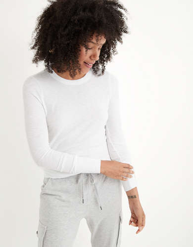 Aerie Ribbed Long Sleeve T-Shirt