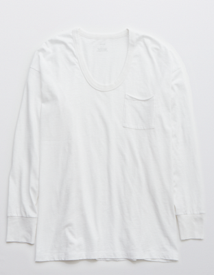 Aerie Oversized Long-Sleeve Voop T-Shirt