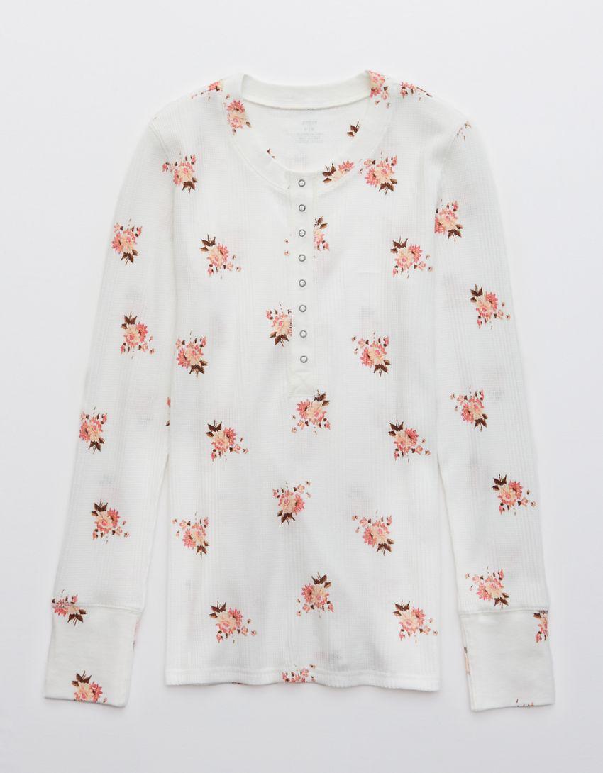 Aerie Heart-Eyes Waffle Long Sleeve T-Shirt