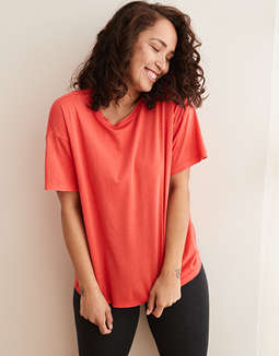 Aerie Real Soft® Crew Neck Tee by American Eagle Outfitters